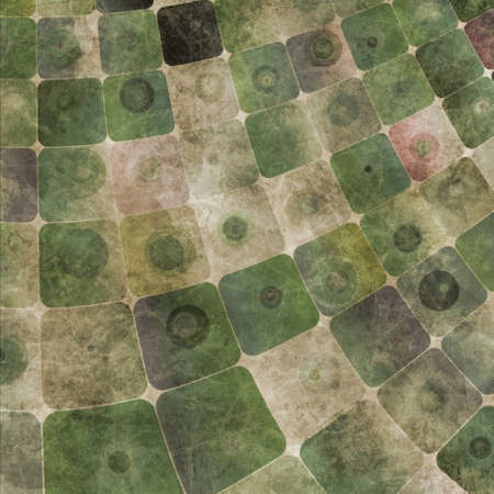 An abstract grungy image of squares curved,  in green tones Banco de Imagens - 9367084