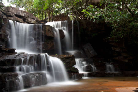 Kbal Chhay Waterfalls in Cambodia Stock Photo