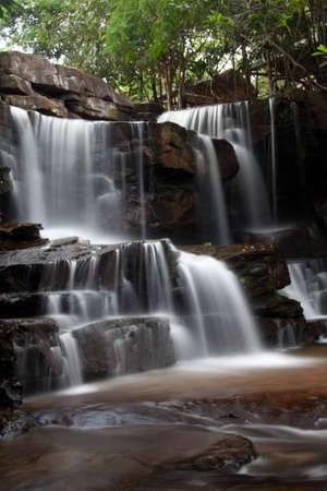 Kbal Chhay Waterfalls in Cambodia Stock Photo