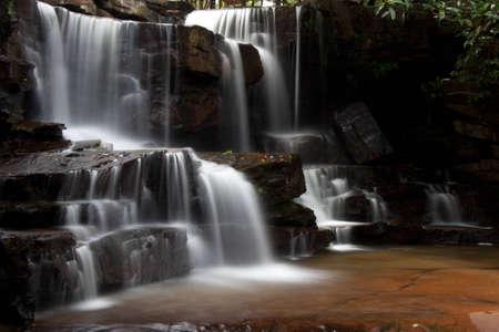 KBAL Chhay watervallen in Cambodja Stockfoto