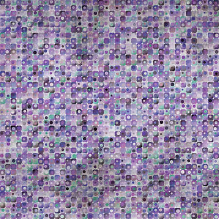 faded: Purple squares and circles background