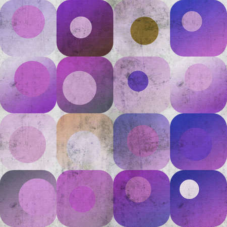 Purple squares and circles background