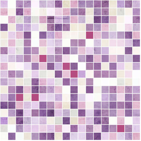 mosaic floor: Purple textured squares background Stock Photo