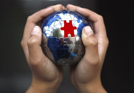 Earth Puzzle Stock Photo - 1010211