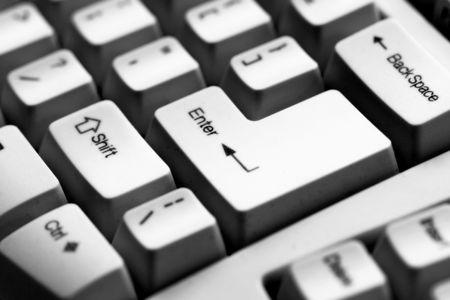 Computer keyboard - close-up photo