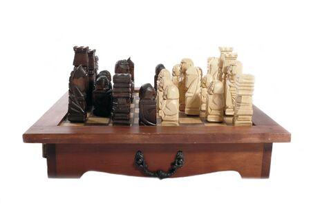 gamesmanship: de madera tallada piezas de ajedrez