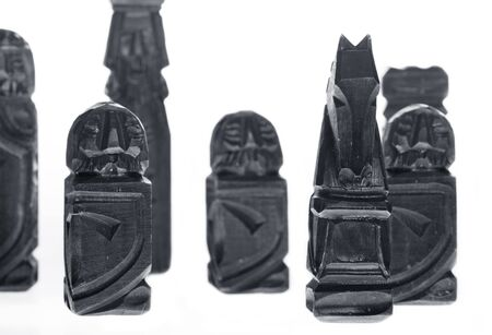 wooden carved chess pieces Stock Photo - 1518714