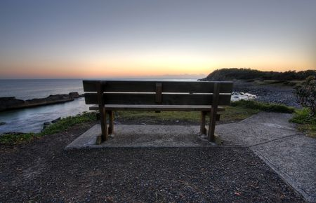 great bay: Morning at Forster Stock Photo