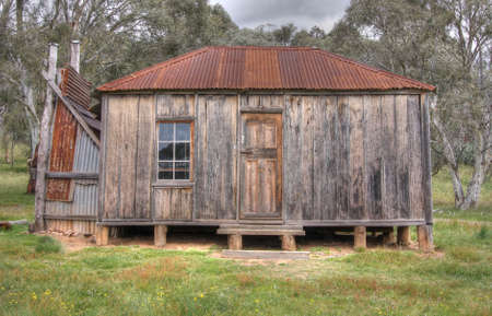 outbuilding: coleman homestead Stock Photo