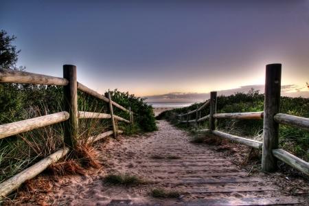 clear path: Beach walkway view - Tathra