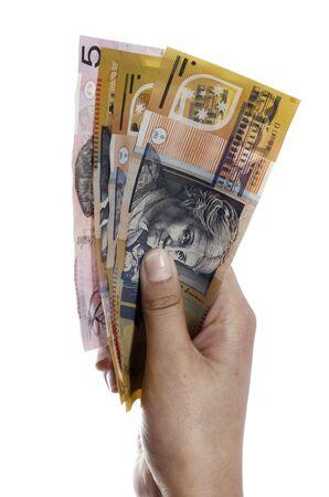 contando dinero: Chica contar dinero  Foto de archivo