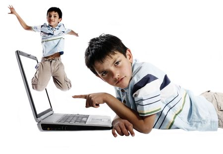 frustrated boy, trying to do homework Stock Photo - 3124941