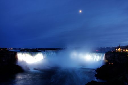Beautiful Niagara Falls in the Ontario region photo
