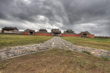 monasteries: Erdene Zuu Monastery in Karakorum, ancient capital of Mongolia Stock Photo