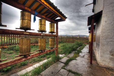 tribute: Erdene Zuu Monastery in Karakorum, ancient capital of Mongolia Stock Photo