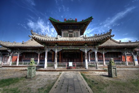 Winter palace - ulaanbaatar, the capital of Mongolia Stock Photo