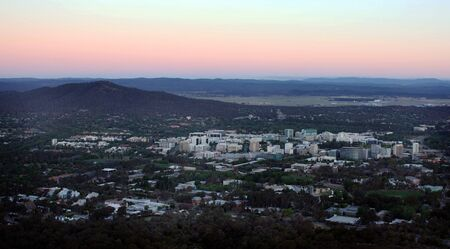 Sunset in the City of Canberra, Australia  photo