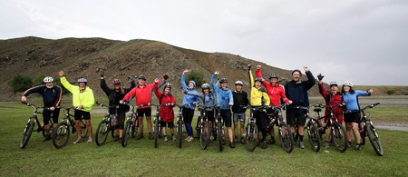 road bike: Mountain Biking Adventure in the Mongolian Mountains