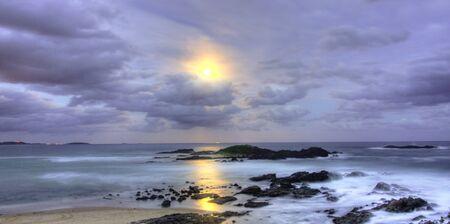 paisaje lunar: Playa Paisaje Lunar en Sawtell Playa en Coffs Harbour