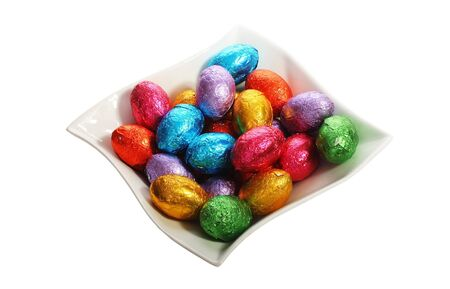 Easter holidays chocolate image isolated with area for text photo