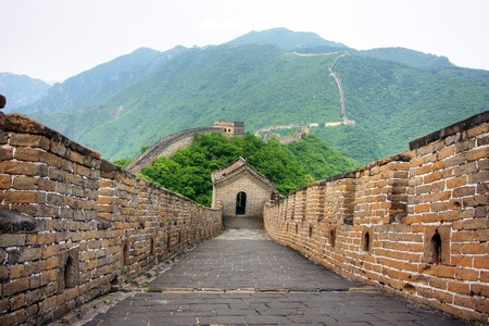 Great Wall of China on a clear day Stock Photo - 4570594