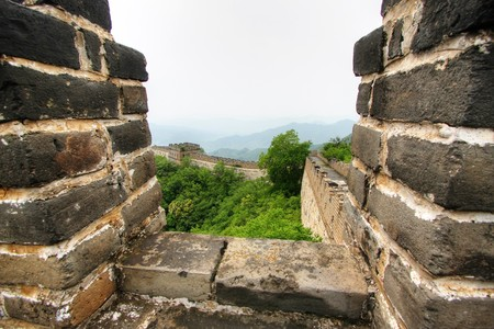 Great Wall of China on a clear day photo