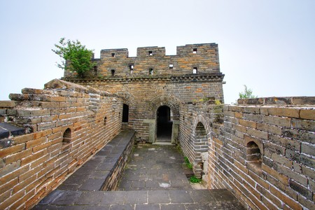 Great Wall of China on a clear day Stock Photo - 4570583