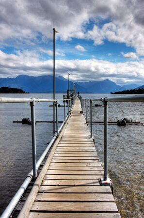 Te: View onto Te Anau Lake in New Zealand