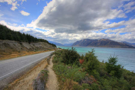 Dramatic views on a New Zealand Road photo