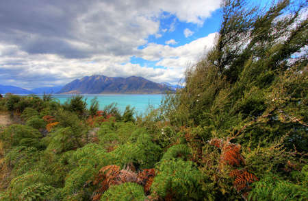Dramatic views on a New Zealand Road Stock Photo - 4845613