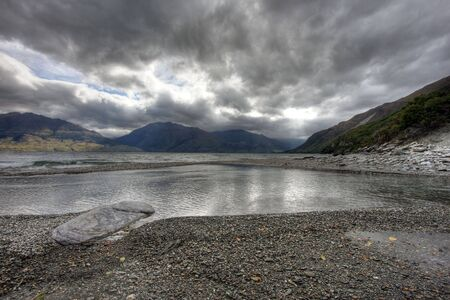 Glacial Lake in New Zealand on a clear day Stock Photo - 4845696