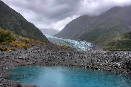 Fox Glacier on a cold day in New Zealand Stock Photo - 4845630