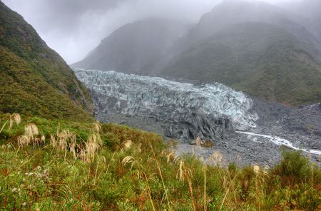 Fox Glacier on a cold day in New Zealand Stock Photo - 4845688