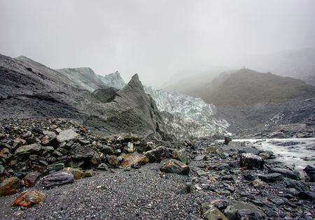 Fox Glacier on a cold day in New Zealand Stock Photo - 4845704