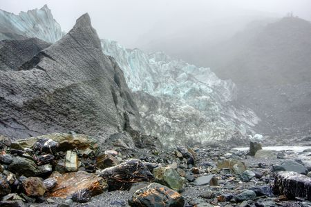 Fox Glacier on a cold day in New Zealand Stock Photo - 4845663