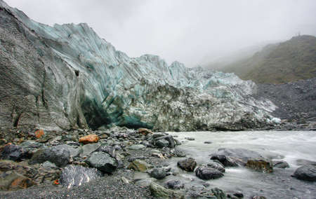 Fox Glacier on a cold day in New Zealand Stock Photo - 4845647