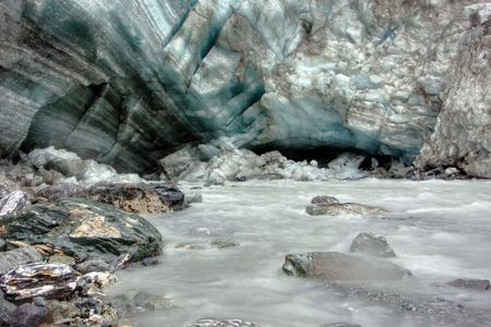 Fox Glacier on a cold day in New Zealand Stock Photo - 4845640