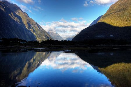 New Zealand Fiordland at the Milford Sound  photo