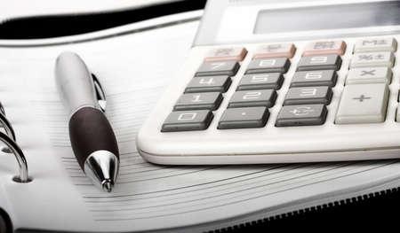 Calculator against white background Stock Photo - 4929396