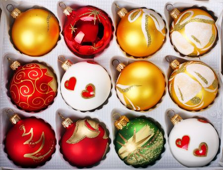 delicate polish glass christmas ornaments photo