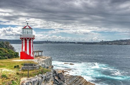 South Head, Port Jackson (Sydney Harbour.) Lighthouse built 1858, after shipwrecks of the Dunbar and the Catherine Adamson. photo