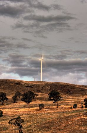 Wind power turbines in Australia photo