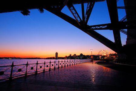 Sydney Harbour bridge in dusk lighting Zdjęcie Seryjne