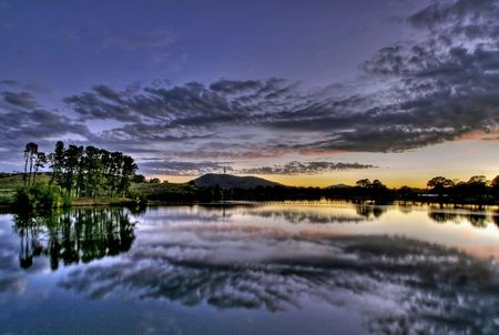territory: View of Lake Burley Griffin, in Canberra, capital of Australia