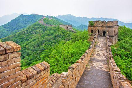 Grande Muraglia della Cina in una giornata limpida Archivio Fotografico - 4988880