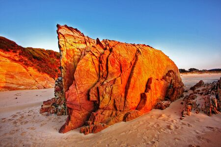 Sunrise by the beach in Tathra, NSW Stock Photo
