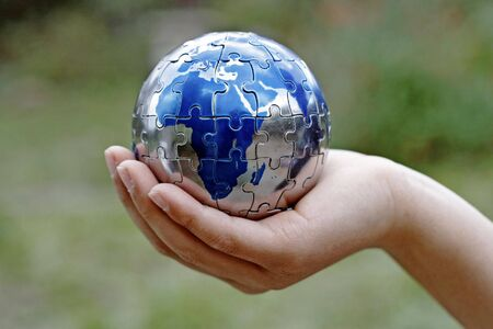 caring for: Caring for Earth and protecting our future Stock Photo
