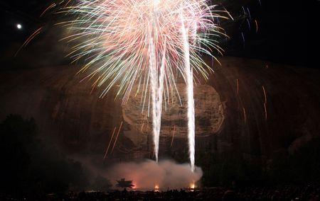 fireworks at Stone Mountain in Atlanta photo