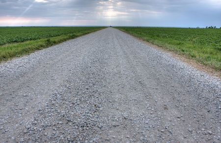 open road in the Canadian landscape photo