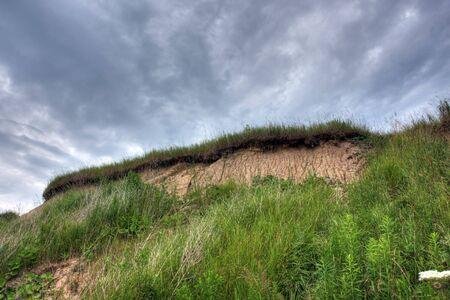 huron: sand dunes on Lake Huron, Ontario, Canada